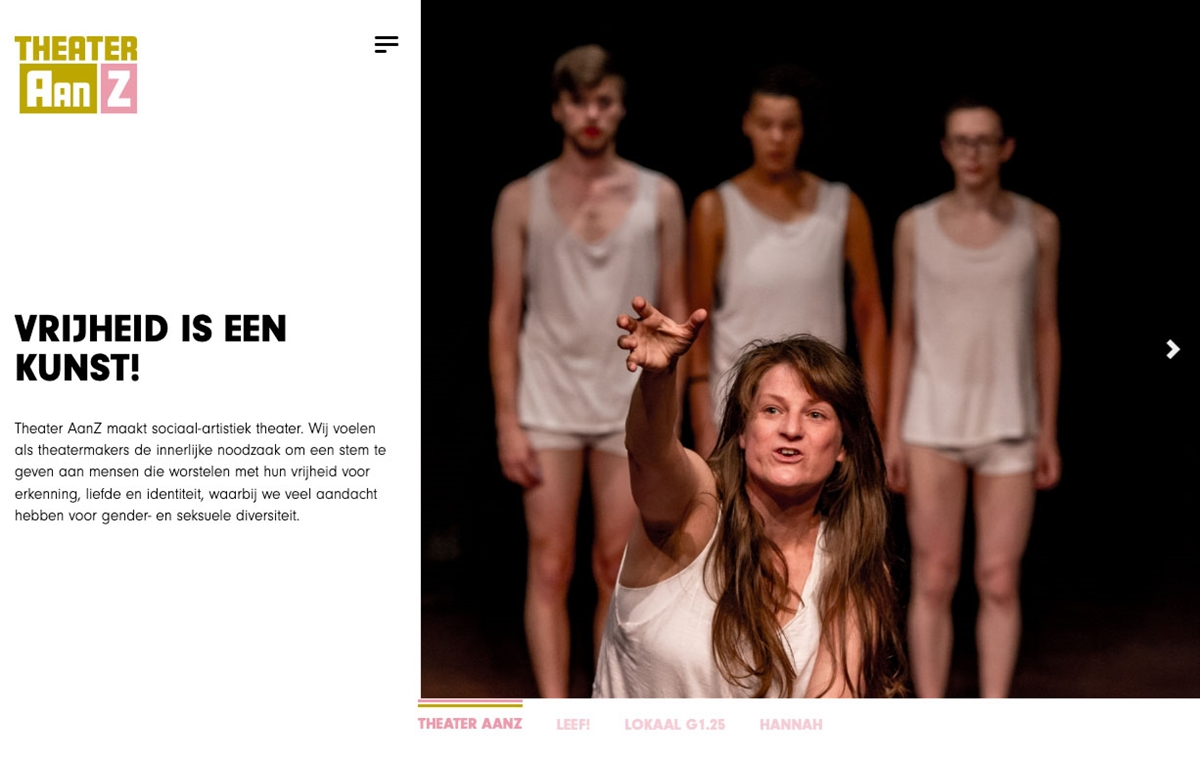 Website Theater AanZ