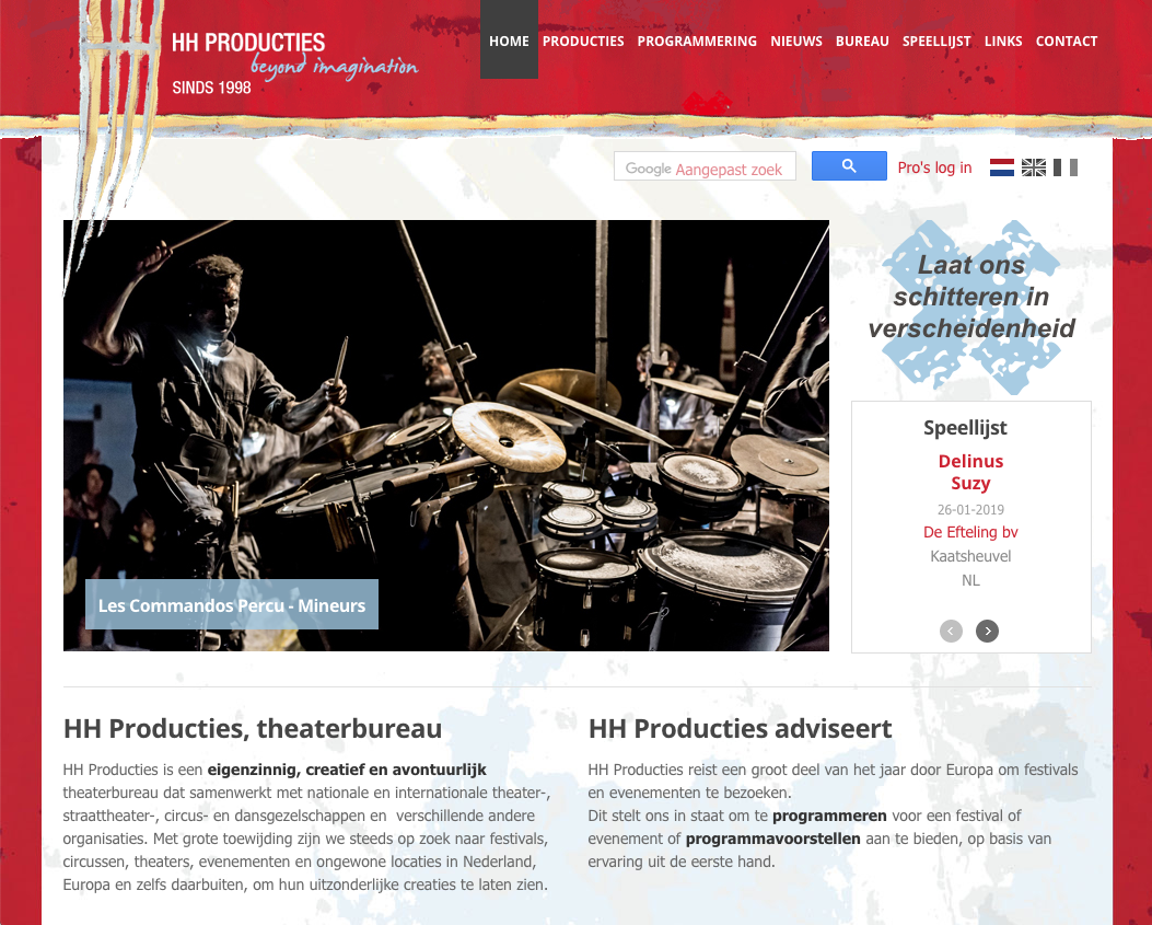 Website HH Producties