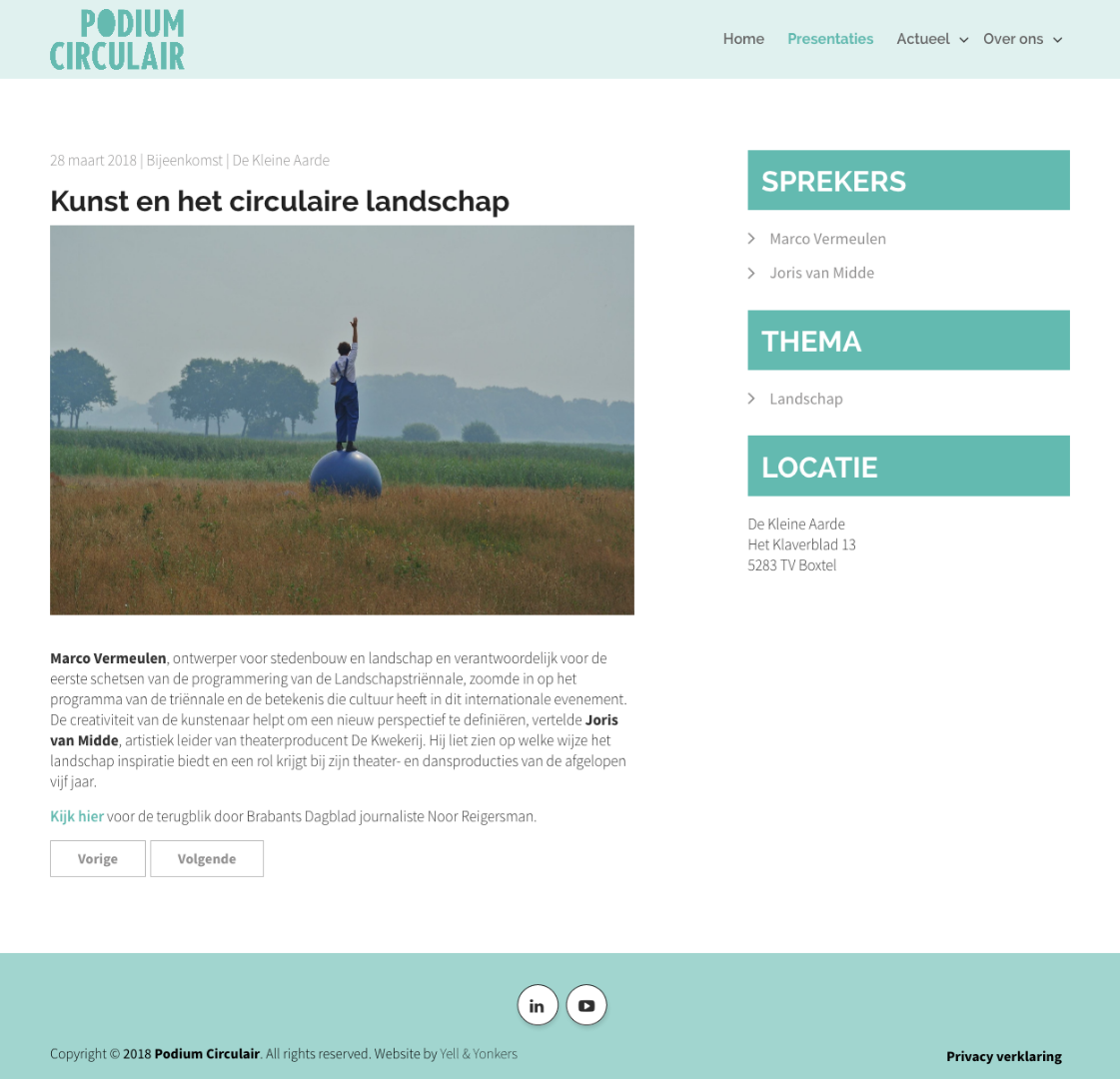 Website Podium Circulair vernieuwd