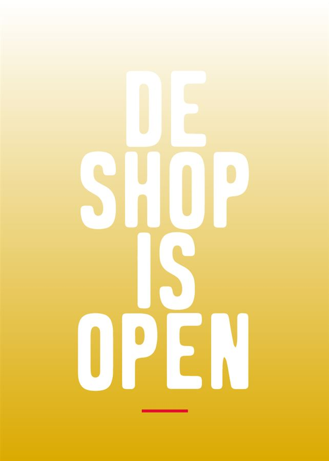 De shop is open